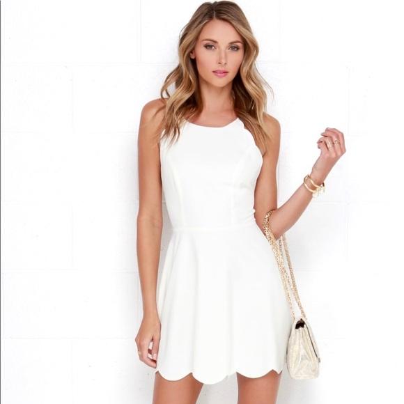 fa911e318f4 Lulu s Dresses   Skirts - LULUS Backless Ivory Scallop Dress